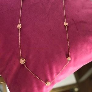 Gold and blush long necklace